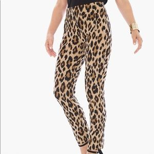 Chico's Juliet animal print ankle pants NWOT